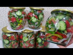 Pickles, Cucumber, Sauce Recipes, Mason Jars, Food And Drink, Marmalade, Fresh, Red Peppers, Mason Jar