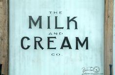 Milk and Cream and B