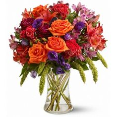 Autumn Gemstones Flowers by Aebersold New Albany Florist.