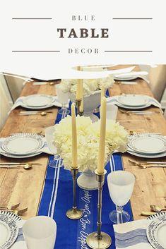 Table decor ideas. Blue table decor. Table decoration. Tablescapes. Blue tablescape inspo