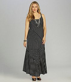 Vince Camuto Woman Stripe Maxi Dress #Dillards