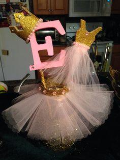 Pink & Gold princess theme centerpieces $15.00