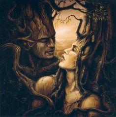 homme et femme arbre