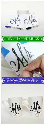 How to transfer words or a design to a Sharpie mug using only paper, pencil, and an oil-based Sharpie.