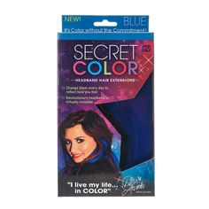 Secret Colour Headband Hair Extensions Blue
