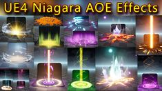 UE4 Niagara AOE Effects Pack 01 in Marketplace