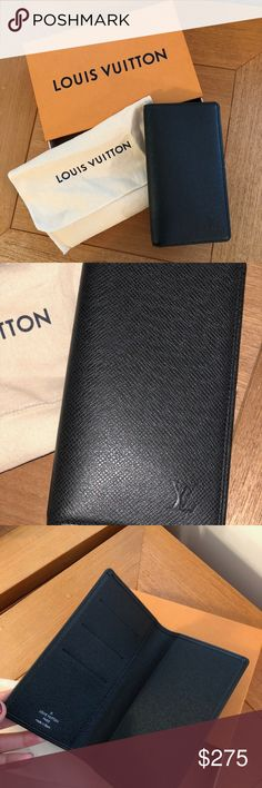 NWT Louis Vuitton Pocket Agenda Cover in Cowhide This refined Pocket Agenda Cover in durable Taïga leather sports a discreet Louis Vuitton initials signature. Large and spacious, it still easily slips into most men's trousers or jacket pocket. R20425. Color/Material: Black Taiga Leather. 9x16 cm. 3 credit card slots. Large slot to hold agenda refill. Agenda refills and address book sold separately. Comes with original LV dustbag and LV box. Louis Vuitton Accessories
