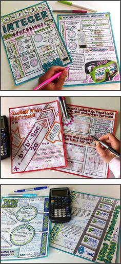 "Math ""doodle notes"" - a creative approach that gets both sides of the brain working together to maximize retention! These are amazing for focus, memory, and learning!"