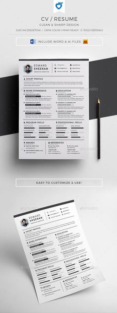 Resume by LeafLove CV / Resume template. Strong typographic structure and very easy to use and customise. Nursing Resume Template, Simple Resume Template, Teacher Resume Template, Resume Design Template, Cv Template, Resume Templates, Graphic Resume, Basic Resume, Resume Cv