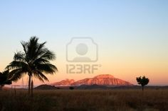 Sunrise in the countryside in central highlands of Madagascar Stock Photo - 8523086