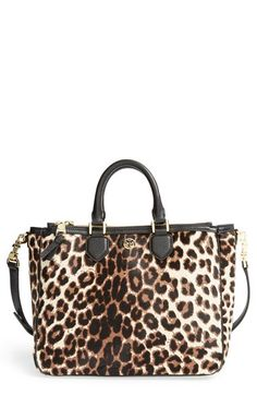 Tory Burch 'Robinson' Genuine Calf Hair & Leather Tote available at #Nordstrom