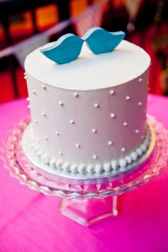 Cute, Simple Wedding Cake   Offbeat Bride
