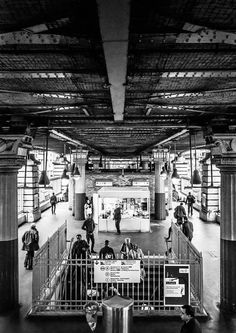 Black and White Metro  Paris   Street Photography  Urban