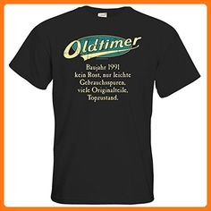 getshirts - RAHMENLOS® Geschenke - T-Shirt - Geburtstag Oldtimer Baujahr Jahrgang 1991 türkis - black XL (*Partner Link)