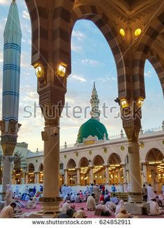 Madina,Saudi Arabia July-20-2016: Al-Masjid an-Nabaw? (Prophet's Mosque) is a mosque established and originally built by the Islamic prophet Muhammad.