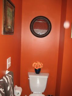 1000 images about bathroom decor on pinterest orange for Orange and brown bathroom ideas