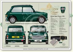 Mini Open Classic LE 1992 classic car portrait print