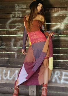 Patchwork Kleid multicolor: IX CHEL, Ibiza