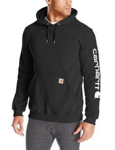 online shopping for Carhartt Men's Signature Sleeve Logo Midweight Hooded Sweatshirt from top store. See new offer for Carhartt Men's Signature Sleeve Logo Midweight Hooded Sweatshirt Hoodie Sweatshirts, Carhartt, Oversized Fashion, Camo, Thing 1, Pulls, Logos, Street Styles, Sportswear