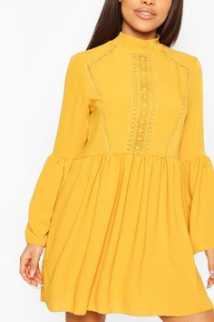 Yellow Cottagecore Dress perfect for the Spring & Summer .. Add this cottagecore aesthetic to your closet. #AD #affiliate Dress Outfits, Casual Dresses, Boohoo Petite, Smock Dress, Origami Fashion, Petite Dresses, Apparel Design, Yellow Dress, Pattern Fashion