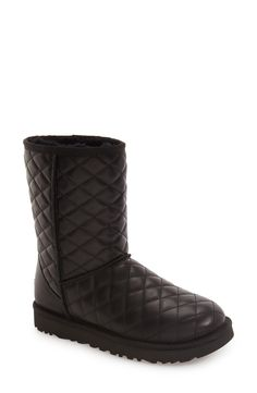 UGG® Classic Short Quilted Boot (Women) available at #Nordstrom