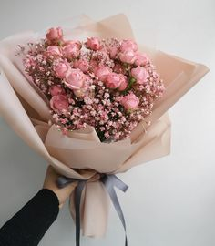 Beautiful Bouquet Of Flowers, My Flower, Pink Flowers, Beautiful Flowers, Wedding Flowers, Luxury Flowers, No Rain, Flower Aesthetic, Bouquets