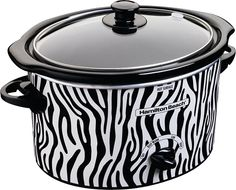 They have a zebra crockpot too! Want! yessssssssssssssss!!!! oh my gosh i'm getting this for my house! haha
