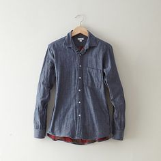 Boyfriend Shirt  Steven Alan:: plaid on the inside!