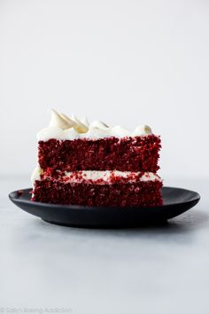 Red Velvet Layer Cake with Cream Cheese Frosting - Sallys Baking Addiction Layer Cake Recipes, Cake Mix Recipes, Layer Cakes, Cheesecake Recipes, Just Cakes, Cakes And More, Big Cakes, Best Red Velvet Cake, Sallys Baking Addiction