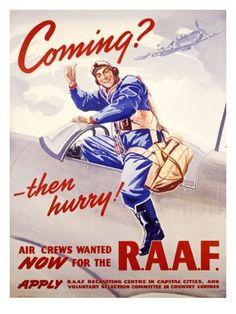 An RAAF recruiting poster. -