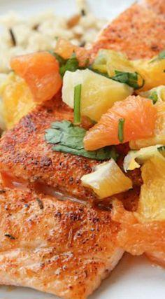 Pan Seared Blackened Salmon with Citrus Salsa