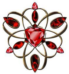 Jewelry ruby decoration in gold by Lyotta on DeviantArt