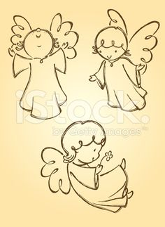 Cute Angels royalty-free stock vector art