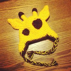 Baby Giraffe Hat  https://www.etsy.com/listing/171558111/baby-giraffe-hat