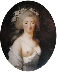 Portrait of young lady as Flora, Élisabeth-Louise Vigée-Le Brun