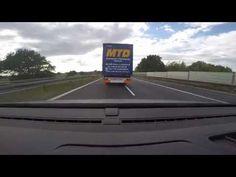 nowy SZERYF NA DRODZE celowe BLOKOWANIE LEWEGO PASA przez kierowcę cięża...