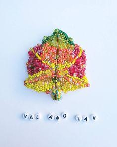 """66 отметок «Нравится», 6 комментариев — Handmade with ❤️ ~Val&Lav~ (@valandlav) в Instagram: «⏺️INSKLUSIVE ⏺️ Брошь,, Осенний кленовый лист """"Выполнена ❎ НА ЗАКАЗ. Мой Design. Выполнена из…»"""