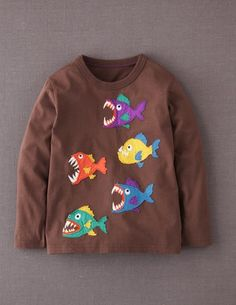 Get your little guy ready for #class with this #school of fish t-shirt from #Boden!