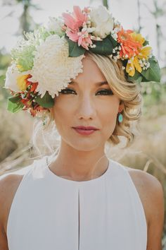 Thailand wedding tropical flower crown - perfect for a beach wedding