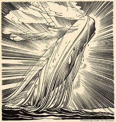 Rockwell Kent illustration from Moby-Dick (1930). You can see all of his illustrations from the three volume edition here.