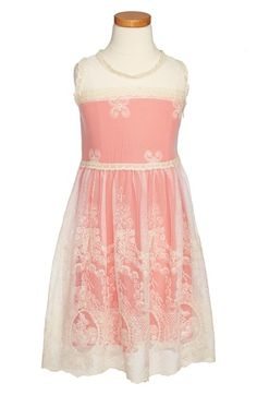 Kiddo Lace & Mesh Overlay Sleeveless Dress (Big Girls) available at #Nordstrom Really pretty.