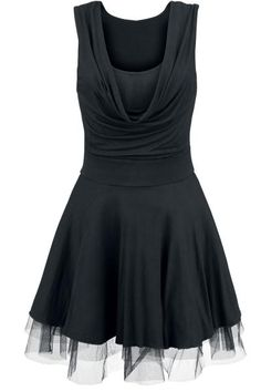 Chloe Wide Collar - Dress by Black Premium by EMP - Article Number: 263709 - from € - EMP Merchandising ::: The Heavy Metal Mailorder ::: Merchandise Shirts and Buy Dress, Dress Skirt, Vestidos Rockabilly, Collar Dress, Gothic Fashion, Cool Outfits, Clothes For Women, Chloe, Dresses