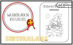 Juf Shanna: Thema Sinterklaas: werkboekje voor kleuters