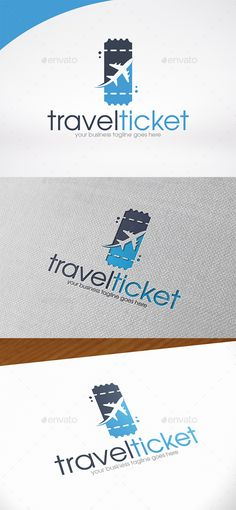 Travel Ticket Logo Template — Photoshop PSD #shipping #global • Available here → https://graphicriver.net/item/travel-ticket-logo-template/14287368?ref=pxcr