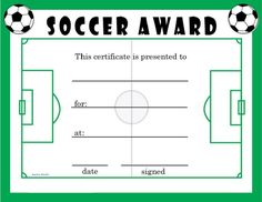 Free printable soccer certificates soccer awards soccer soccer award certificates activity shelter yelopaper Gallery