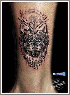 волк миниатюра