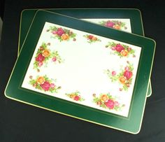 2 Royal Albert Old Country Roses Large Cork Backed Laminated Serving Mats