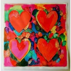 Jim Dine is an American Pop artist who used common images in his art. He may be best known for his heart paintings. His style is one students can really appreciate and derive inspiration from as they experiment with the heart shape, colors, and various art media.