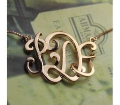 Rose Gold Plated 3D Monogram Name Necklace 3DRG