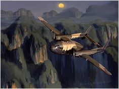 Shadow in the Highlands by Jack Fellows Fairchild AC-119G Shadow